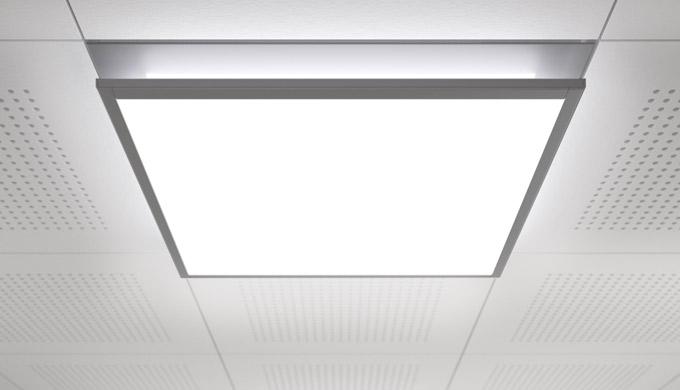 LED-Ein- und Anbauleuchte für die Arbeits- und Raumbeleuchtung in besonders flacher Bauform, für eine effiziente Beleuch
