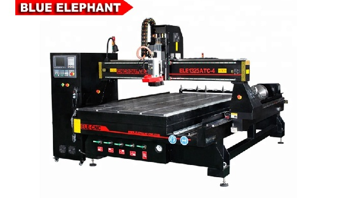 Features  1. There are two kinds of ATC CNC Router Machines. For example, together with 4*8 ATC CNC Router Machine, this
