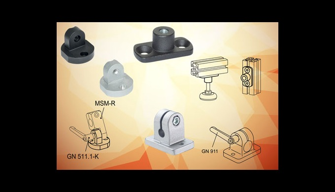 Elesa profile compatible mounting components speed the process of producing industrial frames, screens and machine guard