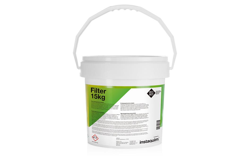 Filter, polvo detergente enérgico.