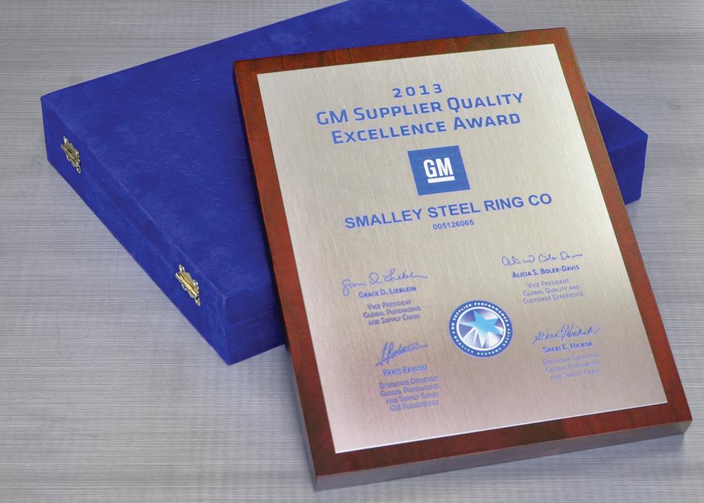Smalley reçoit pour la deuxième année consécutive le Prix de l'excellence GM