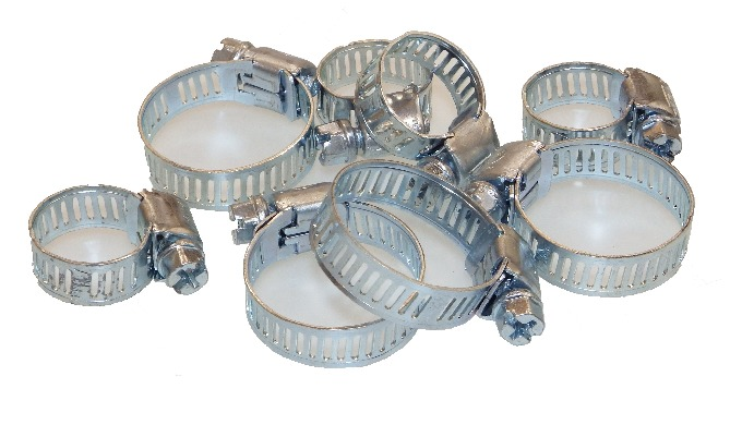 Worm Drive serrated hose clips in Steel and Stainless Steel is available. it is widely use in Automoblie, Plumbing, Irri