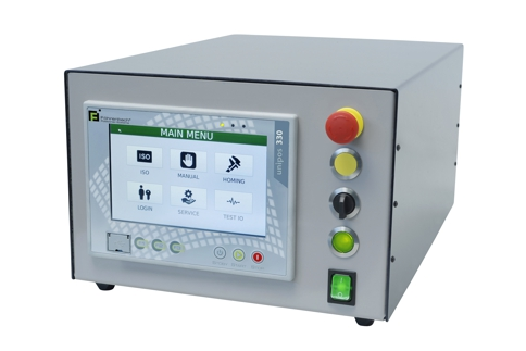 The unipos 330 is a universal, modular CNC continuous path control for up to 3 axes (interpolating) in connection with a
