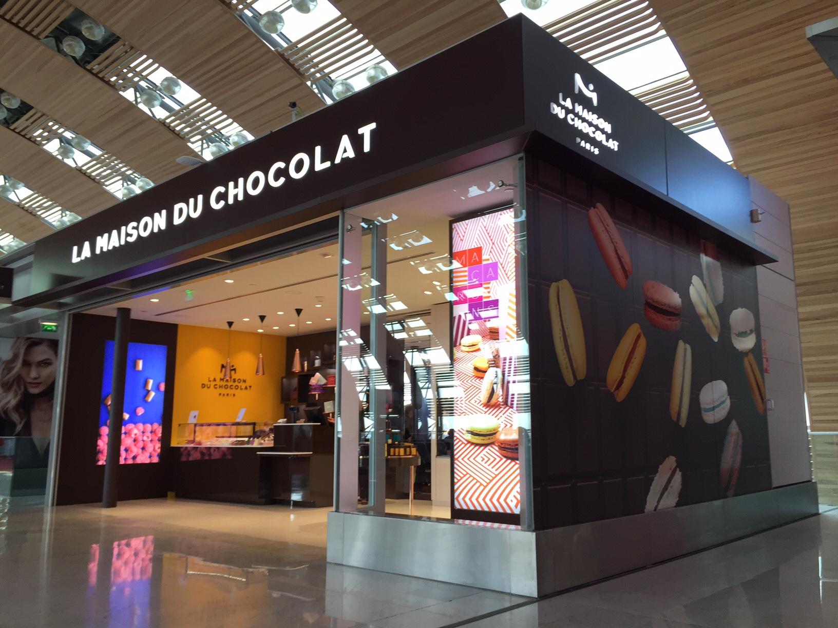 Actif Signal réalise les enseignes de la Maison du Chocolat