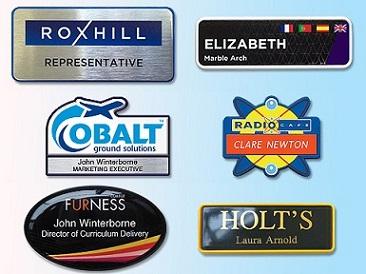 Name badges in frames