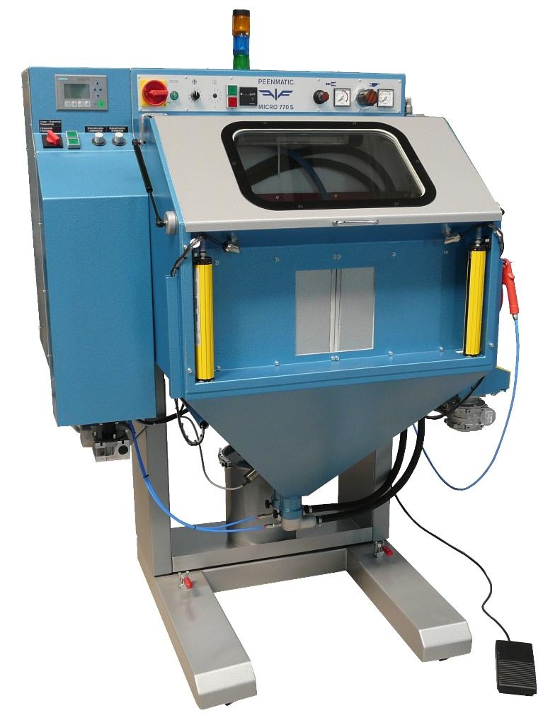 Vollautomatische Microstrahlanlage Kleinste vollautomatische Strahlanlage für Einzelteile bis zu einer maximalen Bauteil