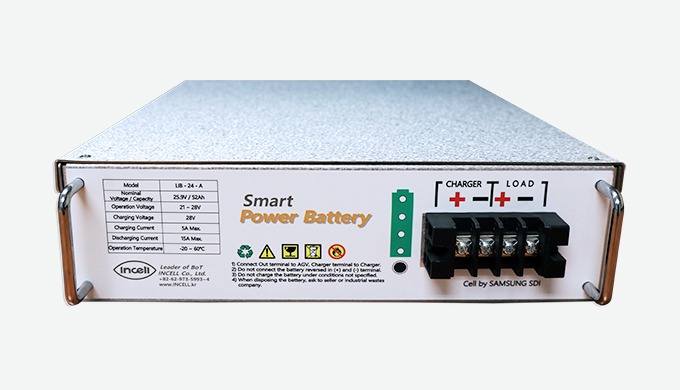 LIB-24-A │lithium battery The LIB-24-A battery module is used for AGV. Incell's lithium-ion batteries are widely used in