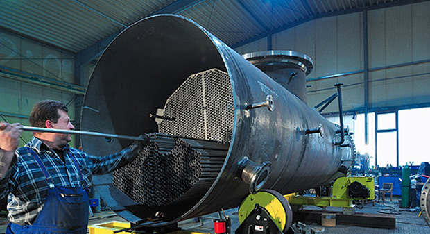 Zum Portfolio gehören die Konstruktion und Fertigung von Wärmeaustauschern und Behältern für Kraftwerke und die chemisch