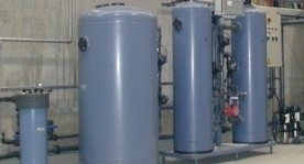Demineralization plants Demineralization plant type DMHE with a flow rate of 5 m3/h. Plants of this type produce deminer