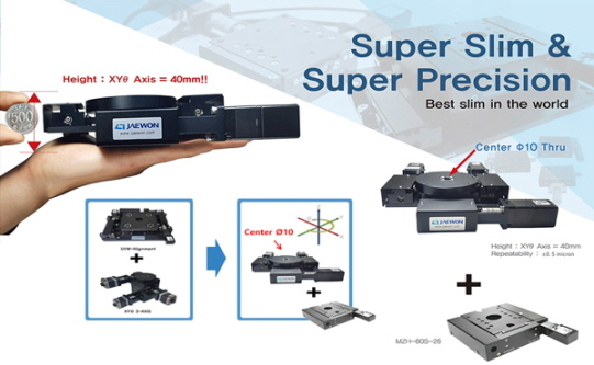 Multifunctional 40mm H-class super slim precision positioning stage