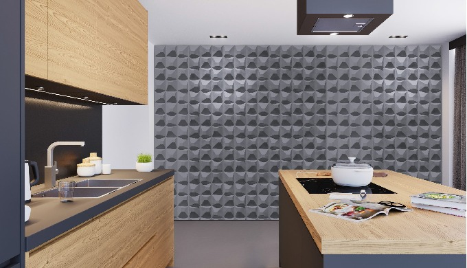 Product name: SQUARE 50cm * 50cm * 1.5cm size eco-friend 3D wall panels for indoor wall and ceiling, which has various p