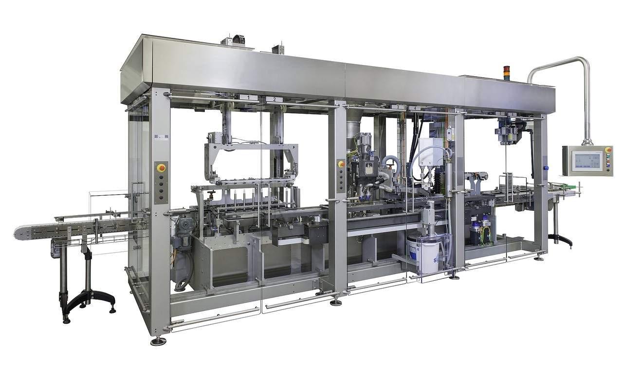 Die OPTIMA MPS ist eine modulare Maschine, die speziell auf den Einsatz für Lebensmittel und Chemikalien ausgelegt ist.