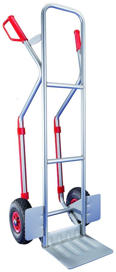 mit Gleitkufen und fester SchaufelSicherer und einfacher Transport über Stufen und Kanten mittels Gleiten auf den Kufen