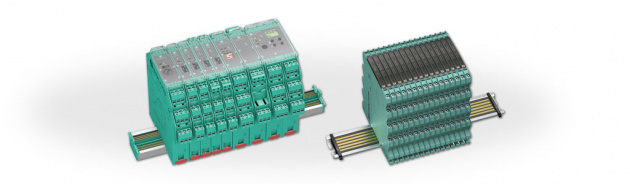 Signal conditioners protect signal transfer between field devices in safe areas and control systems by galvanic isolatio