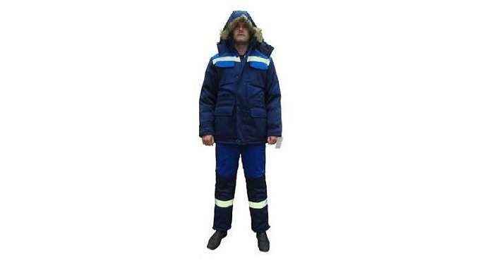Комплектация: куртка + полукомбинезон Ткань верха: «Грета», хлопок-35%, полиэфир-65%, 214 г/м2 Утеплитель куртки: файбер