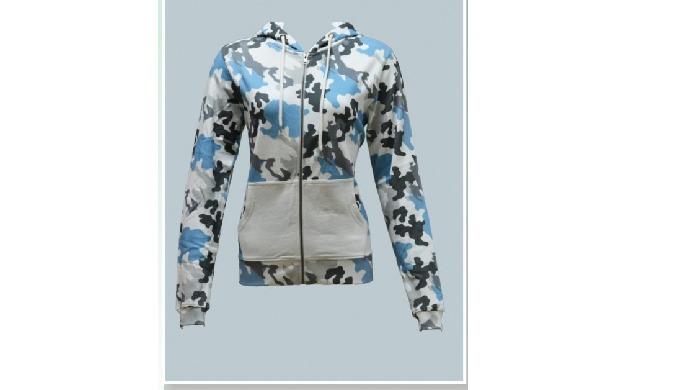 Hoodie Jacket with Zipper & Front Pocket, Fleece Fabric