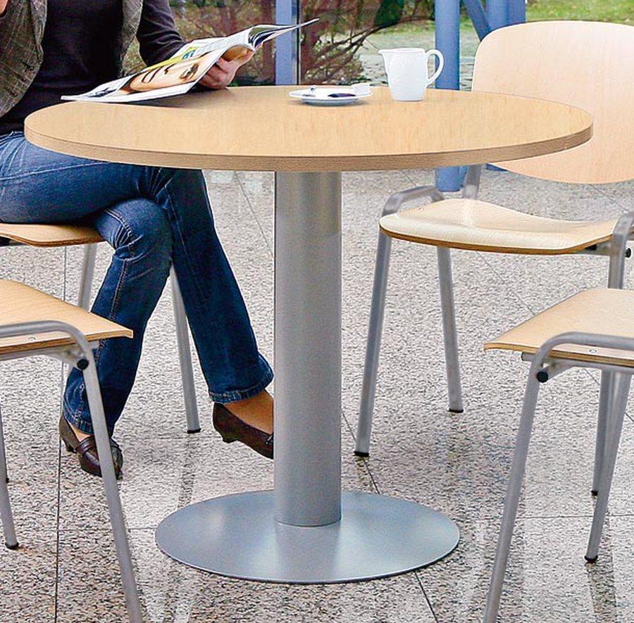 Ø 1000 mm, Höhe 720 mmVielfältig einsetzbarer Tisch, optimal für Besprechungs- oder Sozialräume. 25 mm starke, melaminbe