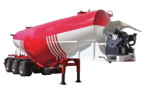 Véhicules conçues pour le transport de ciment en vrac Pression de service maxi 2 bar Pression d'épreuve maxi 3 bar
