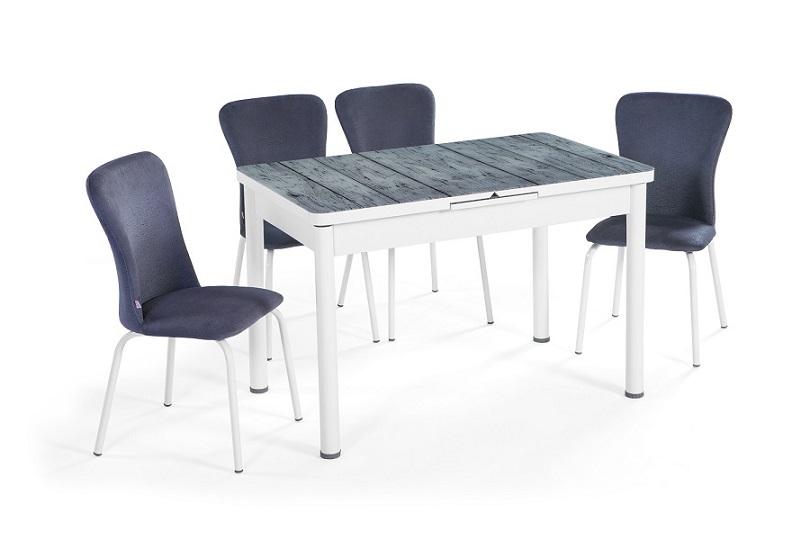 EN 945 Glazed Wooden Dining Set
