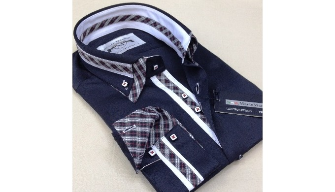 MM1 slimfit heren geweven shirts