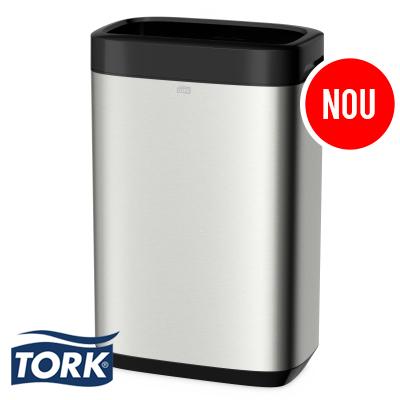 Cos de gunoi Tork din inox, cu capacitatea de 50 de litri.