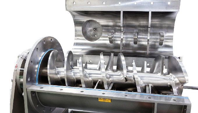 The uniquely designed Hosokawa Micron Extrudomix offers efficient continuous or batch continuous mixing of solids and so