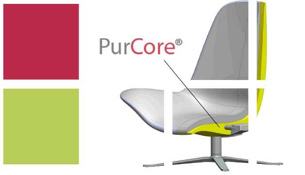 PurCore® er et kompakt, MDI-baseret, polyurethan-skummateriale. Det er et formstabilt og let materiale, som opfylder des