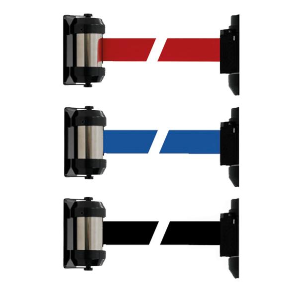3 couleurs disponibles: Noir, Rouge ou Bleu Sangle H 5 cmx L 200 cm Fixation au mur par vis, livré avec platine de réc