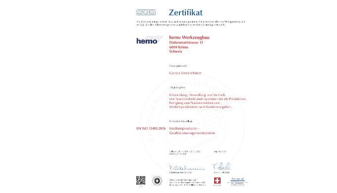 SQS Medizinprodukte Qualitätsmanagementsystem EN ISO 13485:2016