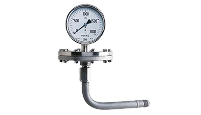 Messbereich: 0 - 600 ... 0 - 6000 mmWS Anschluss: G &frac12&#x3b; AG Material: Edelstahl pmax: 1.3x ME tmax: 80°C Genauigkeit