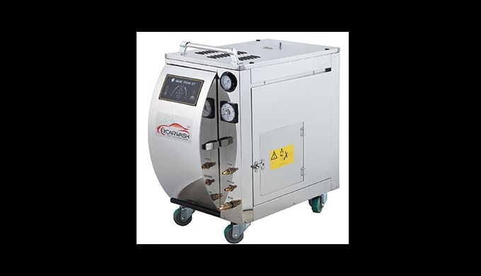 SP7000Series Steam Carwash Machine, which has more powerful output and maintains pressure much longer, cleans dusts and