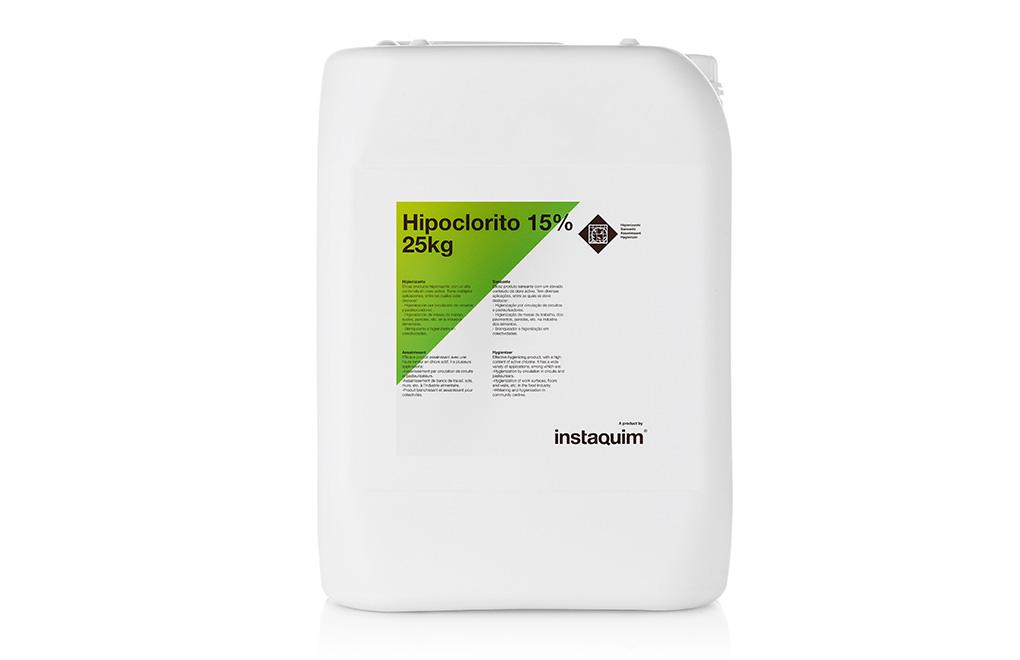 Hipoclorito 15%, higienizante.