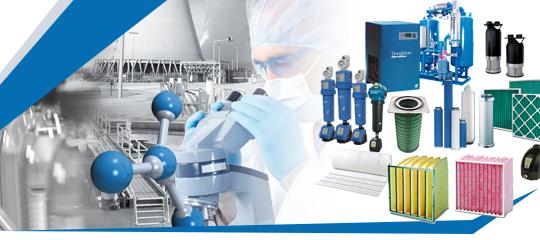Traitement Air Comprimé et Liquides : Filtres et tous types d'élements filtrants ( air, gaz, liquides), Sécheurs réfrige