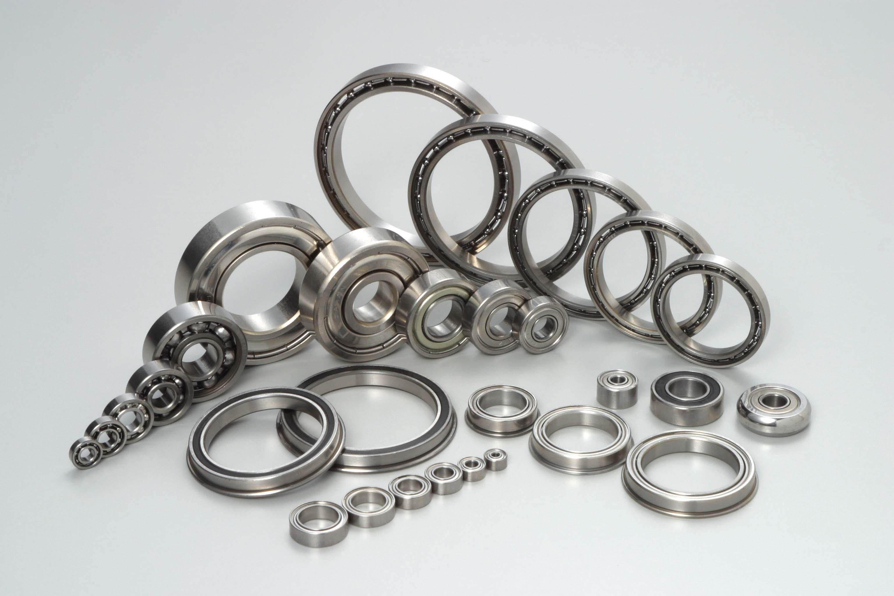 Nos différentes gammes de roulements: Les roulements MINIATURESAcier ou Inox. Cylindrique et à collerette. Diamètre d'