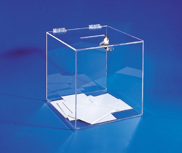 Utilisation pour jeux, élections, concours Très belle qualité Serrure métallique 2 clés Fabrication plexiglass transpare
