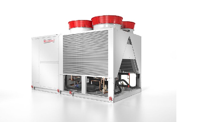 High-end chiller for Data Centres. Version with screw compressors with a cooling capacity from approx. 400 to 1.400 kW a