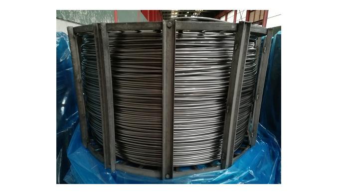 Recocido de alambre de acero. Los tratamientos pueden ser aplicados tanto a piecerio, así como a alambrón, alambre trefi