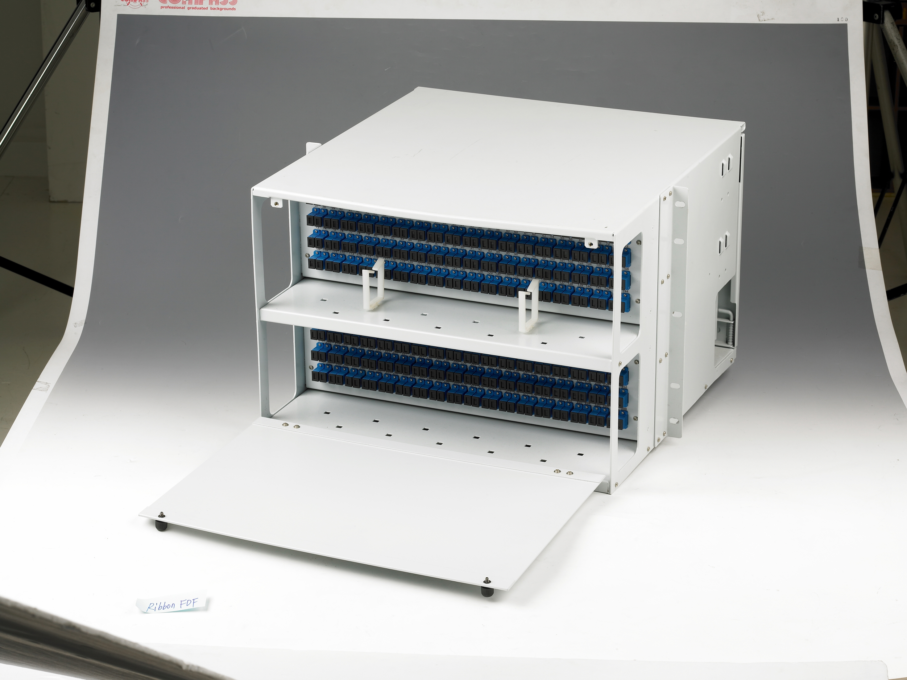 ODF stands for Optical Distribution Frame for the indoor cable management from cable outdoor. This terminates the cables