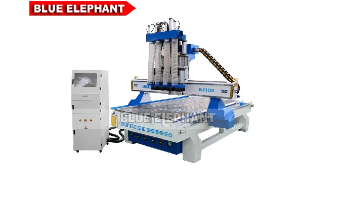 ELECNC-1325 Wood CNC Router with 4 Spindles