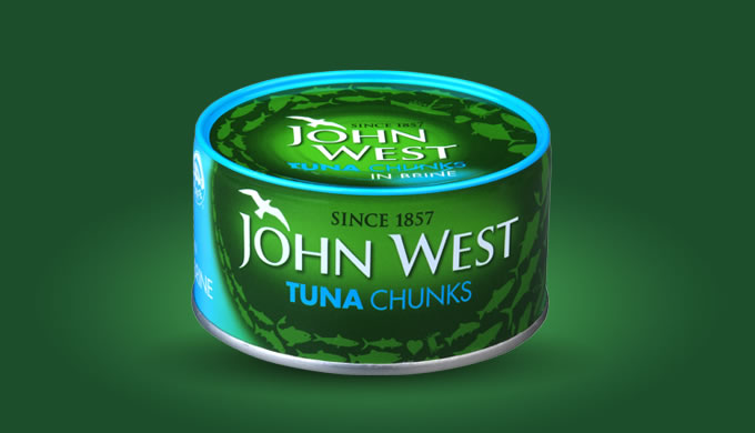 Moist and succulent chunks of the finest wild fish, in brine. At John West we've been braving the roughest seas to bring