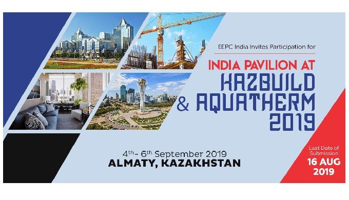 India Pavilion at KAZBUILD & AQUATHERM 2019