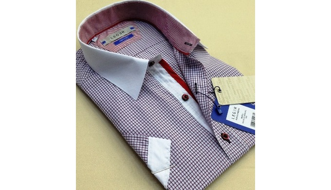 Model LG slimfit men's shirts (high quality men's shirt production)