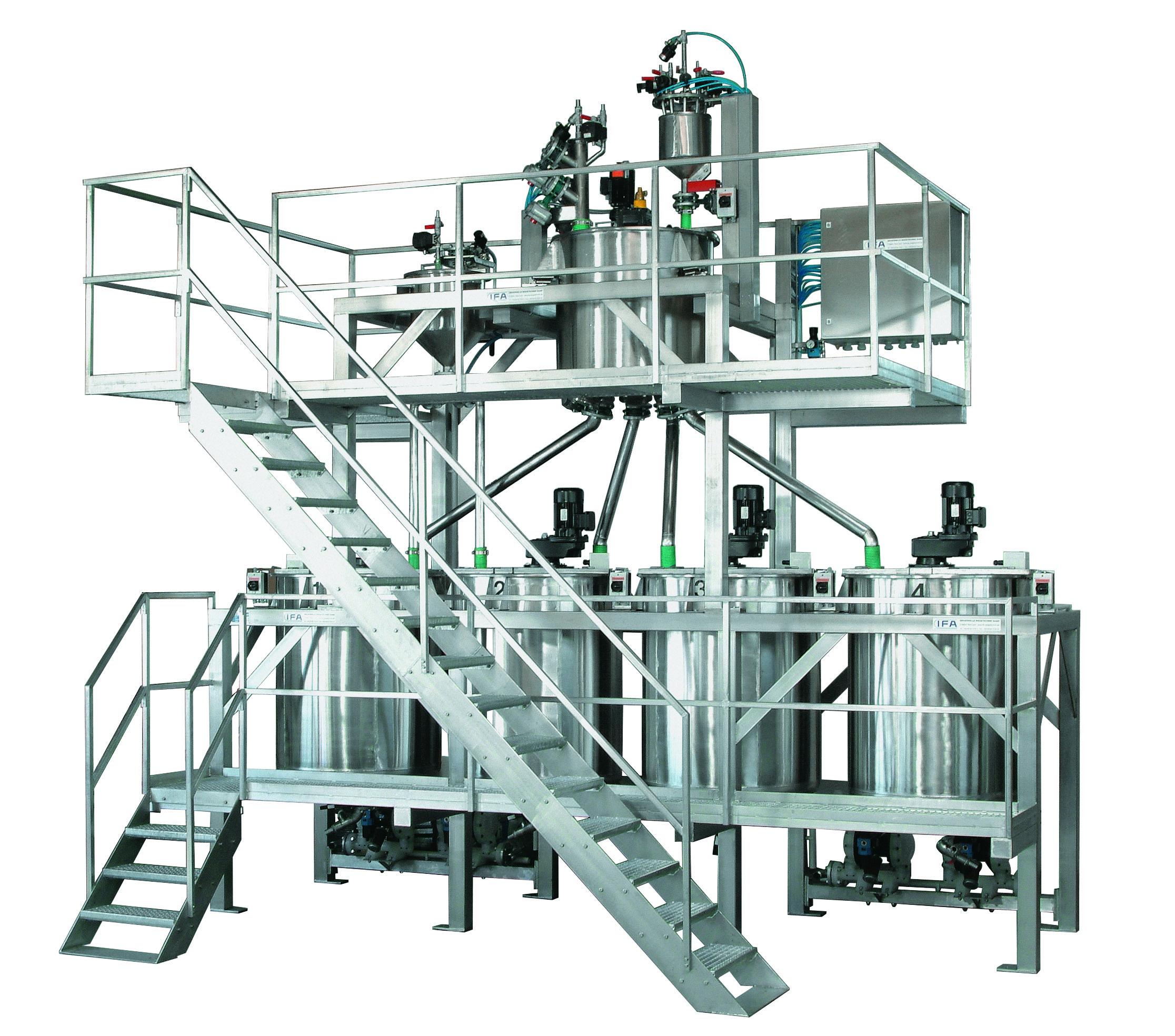 In Abhängigkeit der zur realisierenden Produktionskapazität, der zur Verfügung stehenden Raumgröße, die Anzahl und Eigen