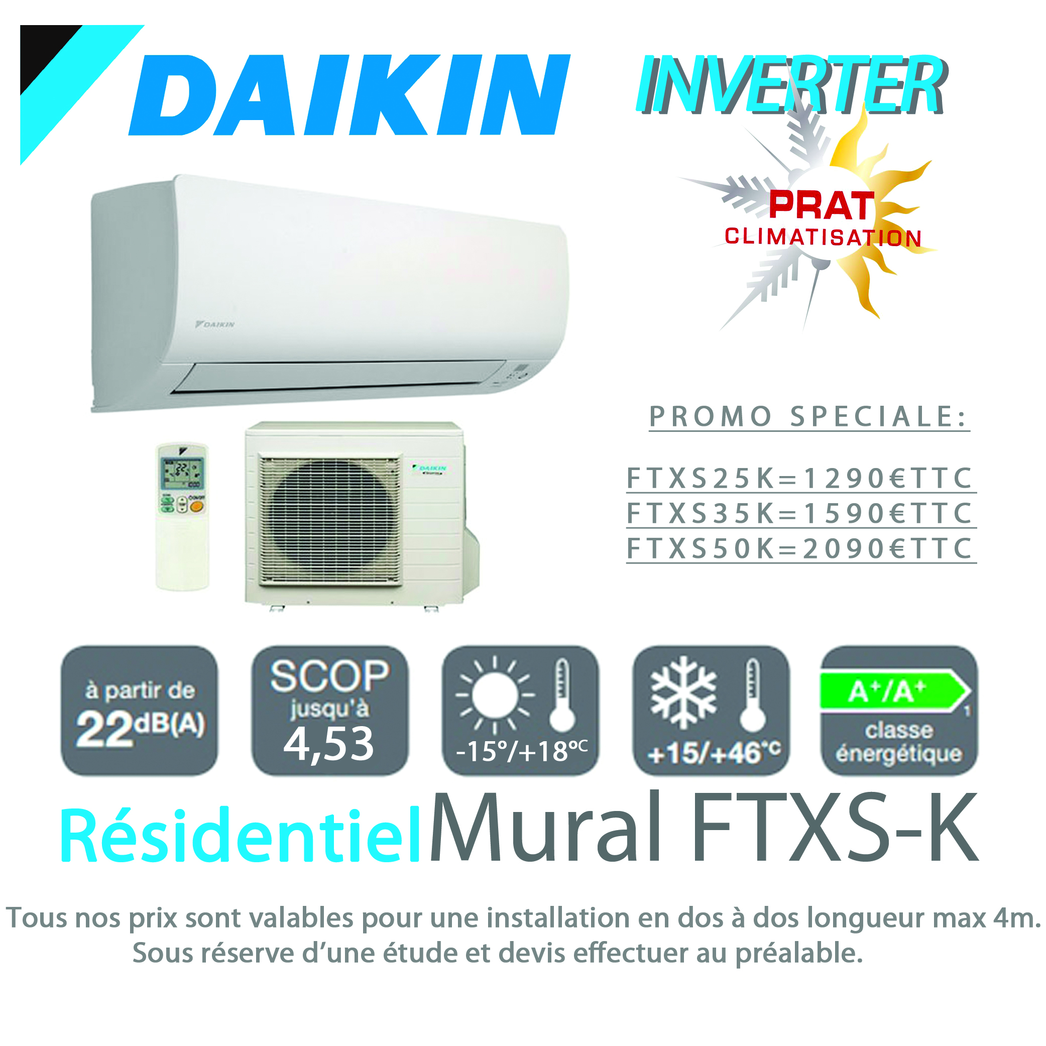 promo climatisation daikin ftxs k rxs k par prat climatisation. Black Bedroom Furniture Sets. Home Design Ideas