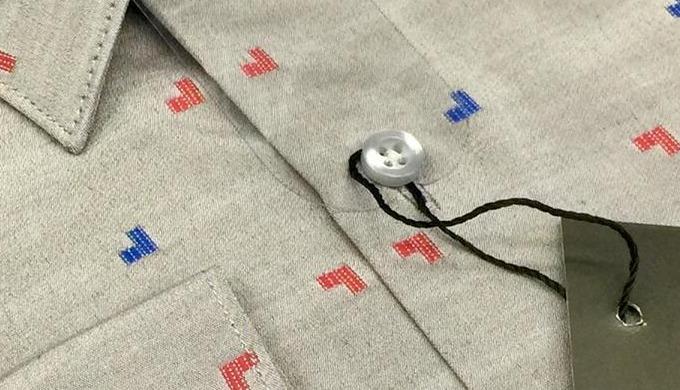 En pointillé cintreé chemise- hommes (prêt pour l'expédition immédiate)