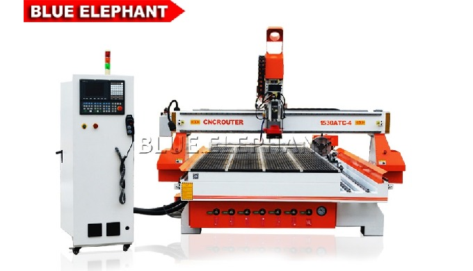 Features: 1. Together with 1530 Automatic 3D Wood Carving Machine, the machine was designed with  rotary device. 2. Both