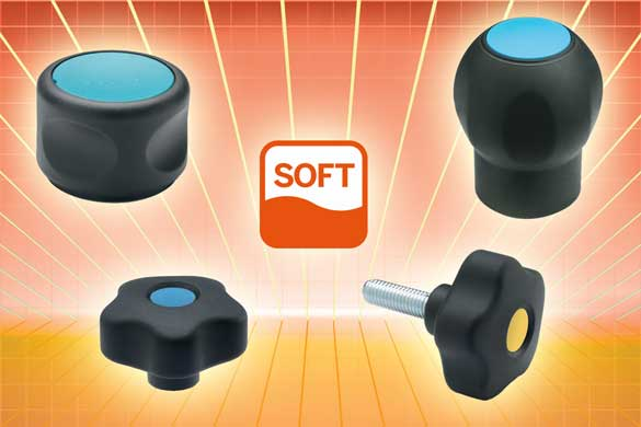 "These Elesa Grip knobs, control knobs and handles represent their ""SOFT"" LINE - commonly known as ""soft-touch"", these ne"