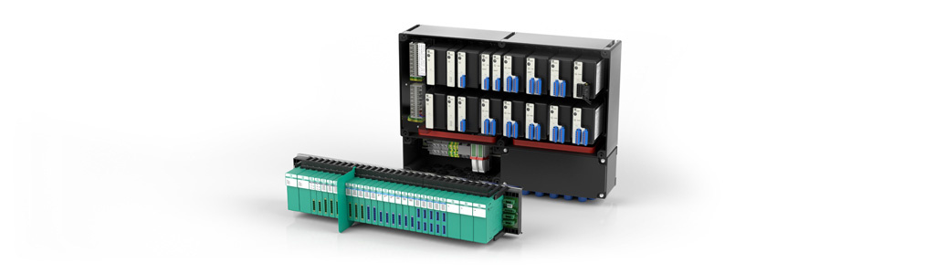 Modular remote I/O systems transmit process data from safe or explosion hazardous areas by connecting binary and analog