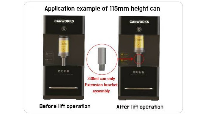 CANWORKS is possible to implement gear-type power transmission by one-button automatic system   'Work arm system'   whic