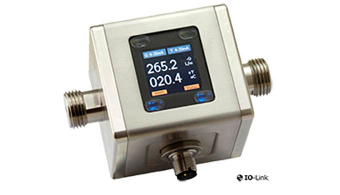 Messbereich: 0,05-10 l/min ... 0,4 - 100 l/min Flüssigkeit Genauigkeit: ±(0,8 % vom MW + 0,5% vom ME) pmax: 16 bar tmax: